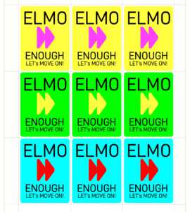 "ELMO-cards: ""Enough! Let's Move On"""