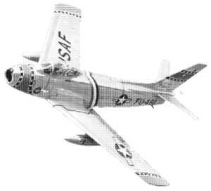 Eine F86, Kampfflugzeug der USAF